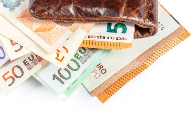 Euros na minha carteira