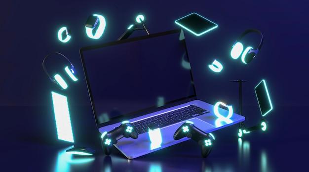Evento cibernético de segunda com laptop
