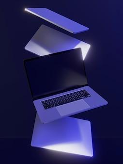 Evento cibernético de segunda-feira com laptops