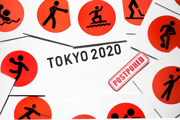 Evento esportivo 2020 adiado composição