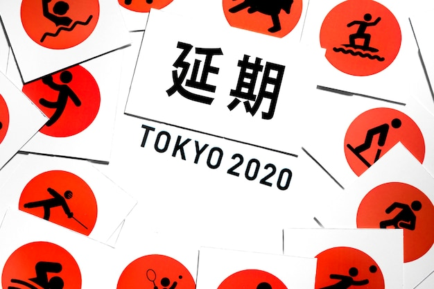 Evento esportivo 2020 leigo plano adiado variedade