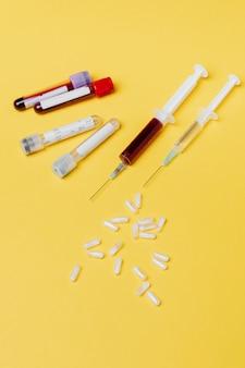 Exame de sangue e vacinas