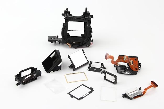 Examinado em detalhes a câmera digital com obturador eletrônico