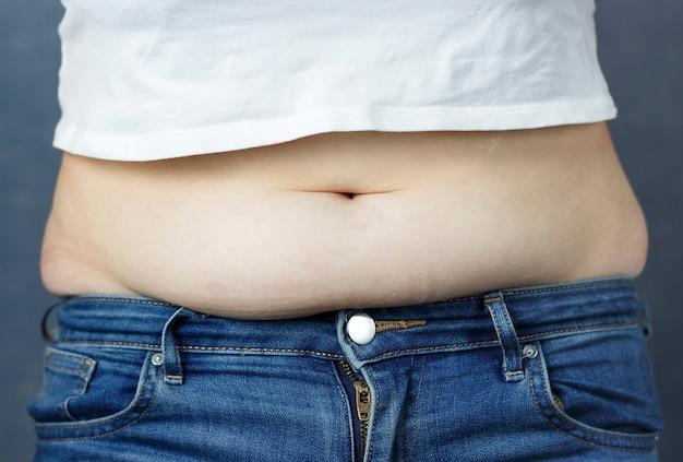 Excesso de gordura no abdômen, o conceito de perda de peso