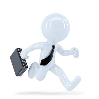 Executando o empresário. isolado. contém o traçado de recorte