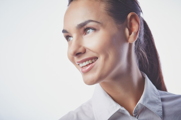 Executivo com um grande sorriso
