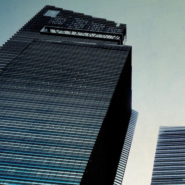 Executivos do conceito da metrópole do negócio da construção da arquitetura da arquitetura da cidade