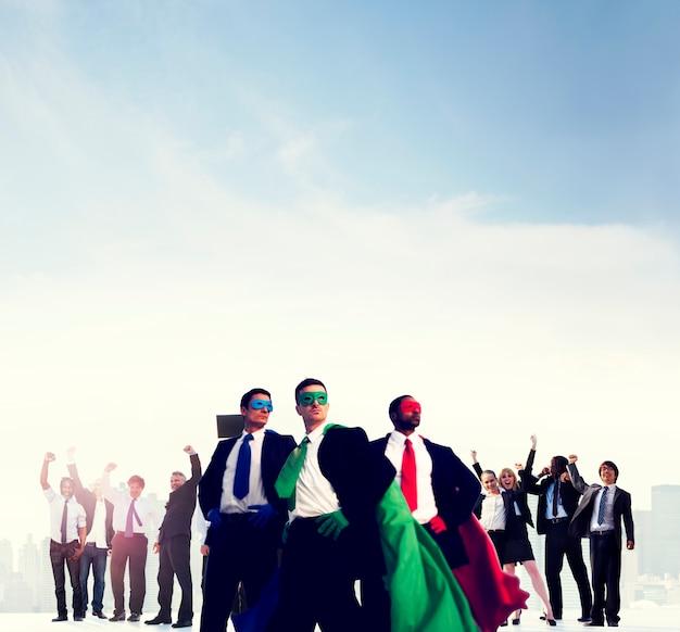 Executivos do conceito de sucesso de celebração corporativa