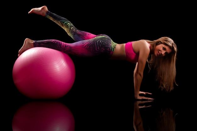 Exercício de garota fitness