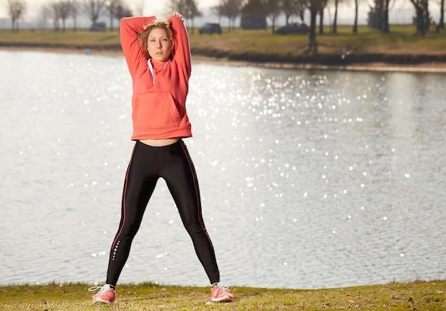 Exercícios de mulher no exterior