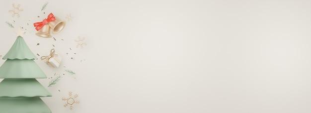 Exibição de banner 3d para apresentação de produtos e cosméticos com conceito de feliz natal e ano novo