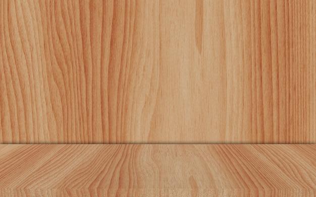 Exibição de madeira de cerejeira com fundo