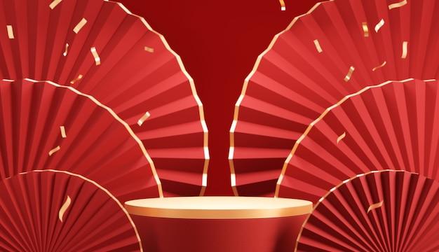 Exibição de pódio para o ano novo chinês
