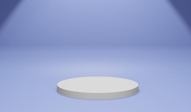 Exibição do produto com renderização 3d de cor azul