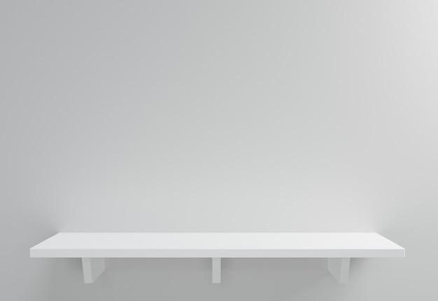 Exibição do produto. na parede branca. renderização 3d