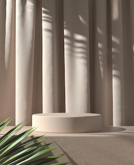 Exibição mínima de pódio com folhas
