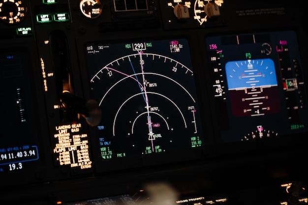 Exibir sistema de navegação de aeronaves boeing.