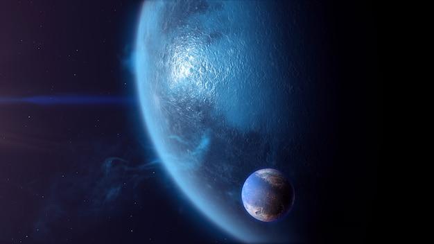 Exoplaneta do tipo de gelo com exomoon