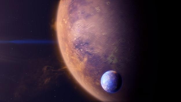Exoplaneta do tipo deserto com exomoon
