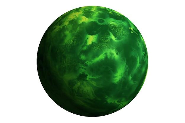 Exoplaneta isolado no fundo branco. os elementos desta imagem foram fornecidos pela nasa. foto de alta qualidade