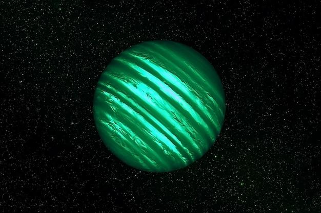 Exoplaneta no espaço profundo. os elementos desta imagem foram fornecidos pela nasa. foto de alta qualidade