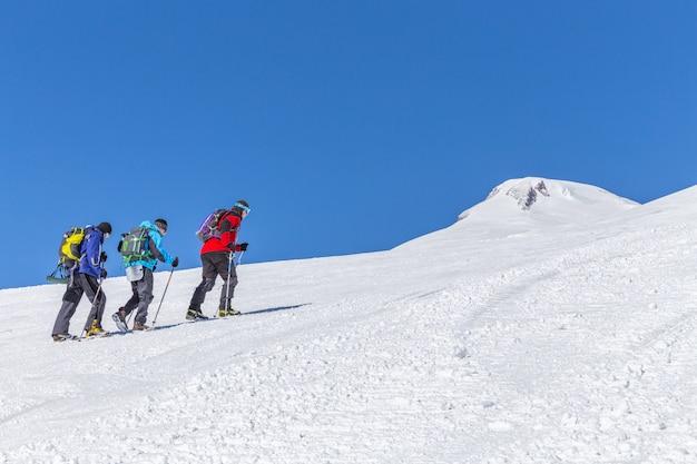 Expedição no alto das montanhas