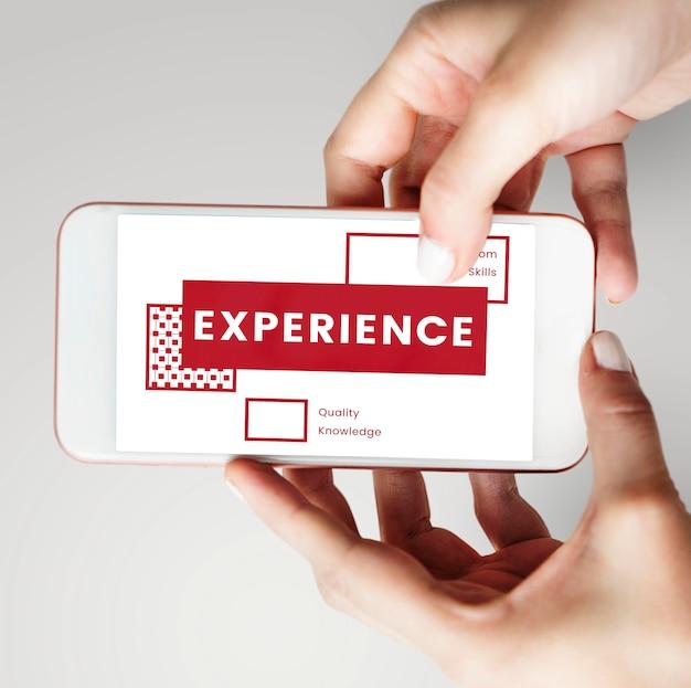 Experiência, conhecimento, habilidades, observação, conhecer