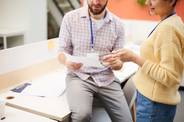 Explicando dados no documento