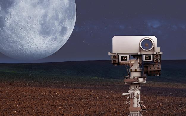 Exploração espacial de novos exoplanetas; elementos desta imagem fornecida pela ilustração da nasa d