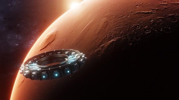 Explorando marte com naves espaciais entre as estrelas usando centro de pesquisa científica internacional