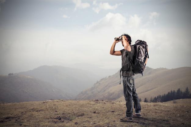 Explorando na natureza