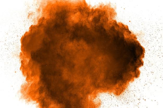 Explosão abstrata de pó laranja