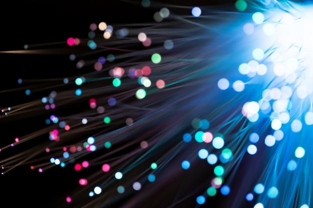 Explosão colorida de luz de fibra de vidro