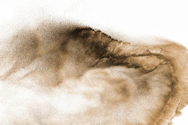 Explosão de areia rio seco