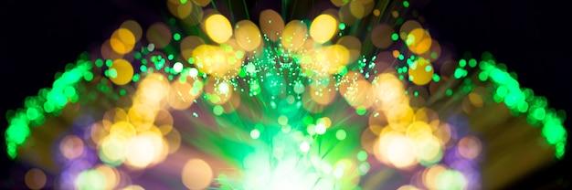 Explosão de fibras abstratas de fogos de artifício