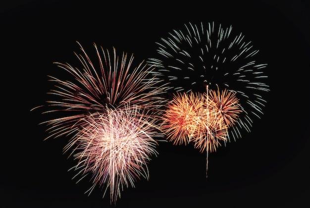 Explosão de fogos de artifício coloridos festivo abstrata