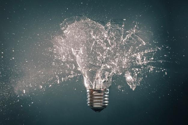 Explosão de lâmpada