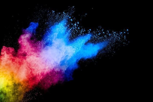 Explosão de pó colorido