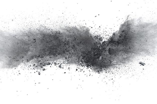 Explosão de pó preto.