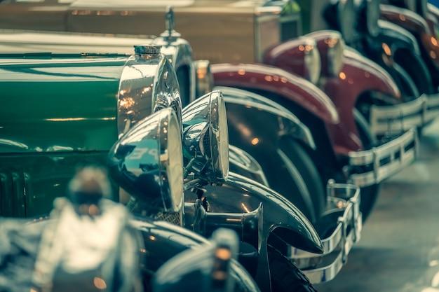 Exposição de carros retrô