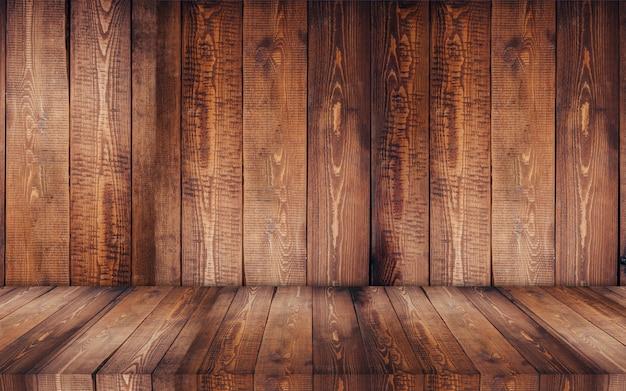 Exposição de madeira com fundo