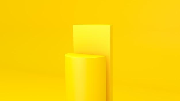 Exposição de produto amarelo na superfície amarela