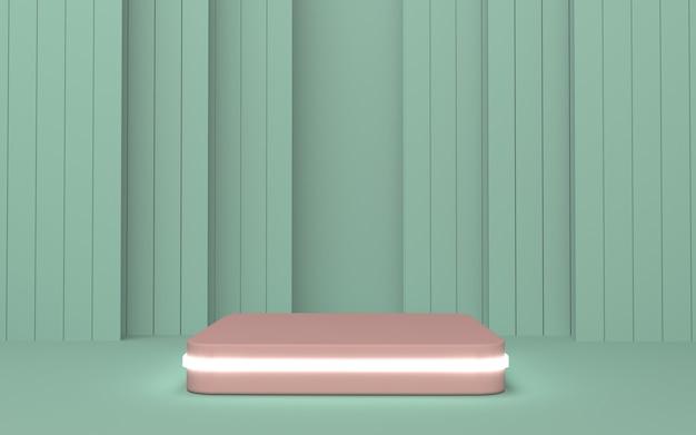 Expositor de produto de pódio retângulo arredondado