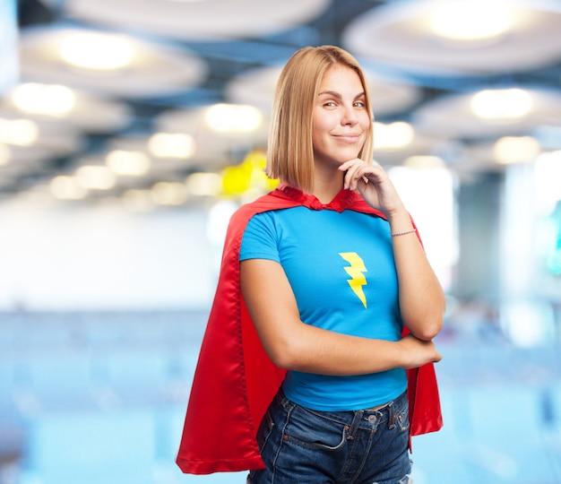 Expressão heroína girl.happy nova loura