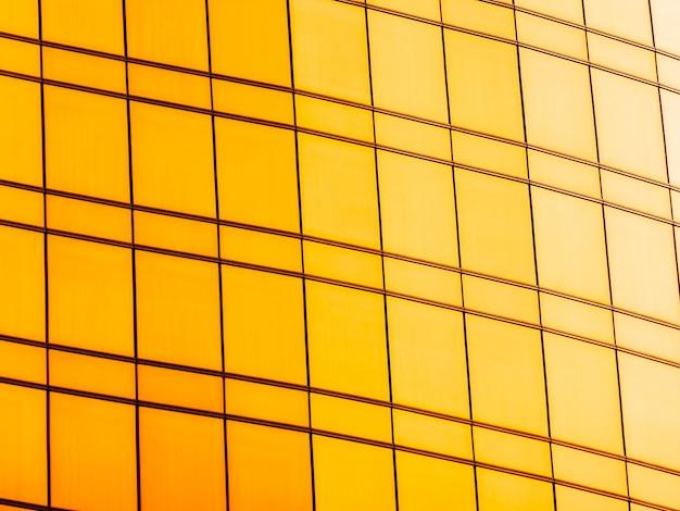 Exterior de vidro de janela abstrata do prédio de escritórios de arquitetura