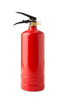 Extintor de incêndio isolado em um branco