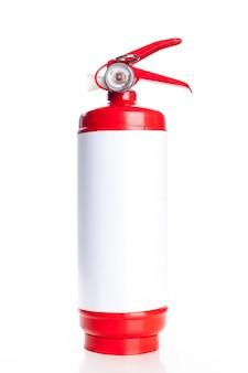 Extintor de incêndio vermelho