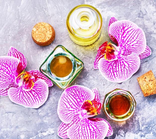 Extração de flores orquídea