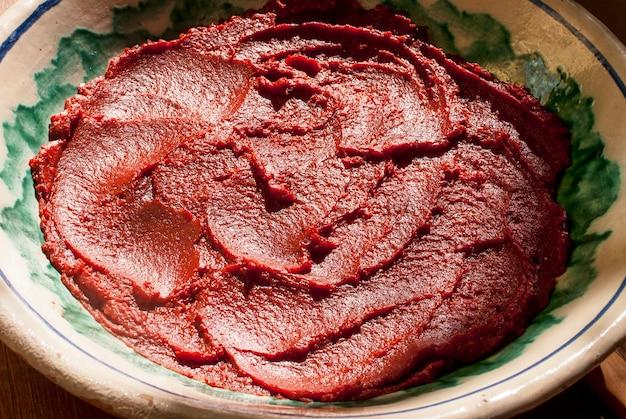 Extrato de tomate, preparação típica da sicília para molhos e espaguete