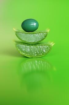 Extrato natural orgânico de aloe em cápsulas verdes. bio aditivos alimentares.